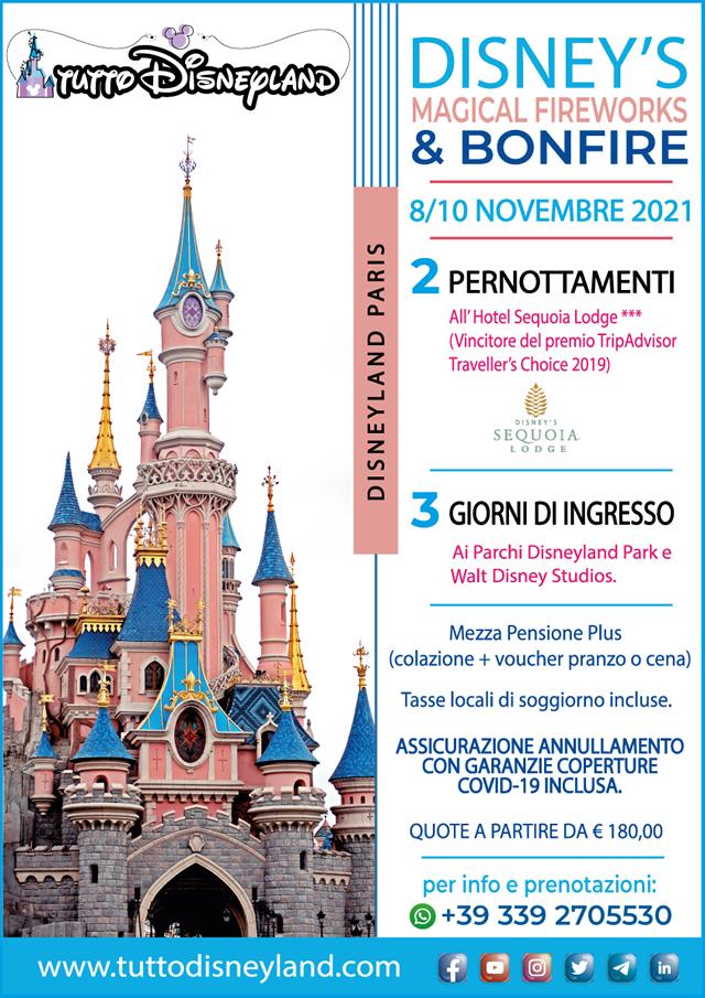 Viaggio a Disneyland Paris Novembre 2021